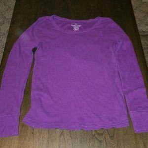 Ribbed long sleeve purple top - Xlarge 16-18